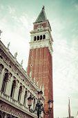 The Campanile Di San Marco In Venice, Italy.