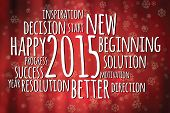 Word Cloud Filled With Positive Attitude For The New Year 2015