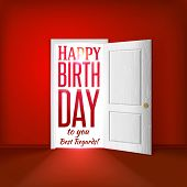 Happy Birthday Red Room Card Concept