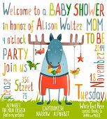 Baby Shower Invitation with Animal