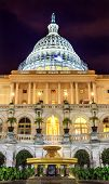 image of laws-of-attraction  - US Capitol on South Side with Construction with Night and Stars in Washington DC - JPG