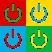 Pop Art Power Button