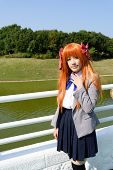 Japanese anime character cosplay girl
