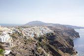 Beautiful scenery of Thira