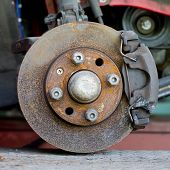 Closeup Photo Of Car Disc Brakes Servicing