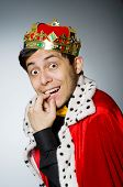 foto of king  - King businessman in funny concept - JPG