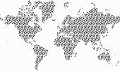 World map vector with home icons pattern
