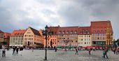 Nurnberg, Germany - July 13 2014: Hauptmarkt, The Central Square Of Nuremberg, Bavaria, Germany.  Nu