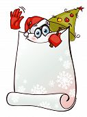 Stylized banner with Santa