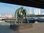 Statue In Rotterdam