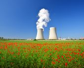 stock photo of reactor  - Nuclear power plant Temelin in Czech Republic Europe - JPG