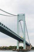 Green Steel Suspension Bridge