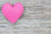 Heart Love Shape On Wood Background