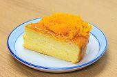 slice of Victoria sponge cake