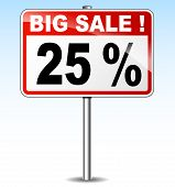 Big Sale Road Sign