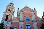 All Saints Church In Vilnius Town, Capital Of Lithuania.