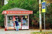 Lietuvos Spauda Newspapers Selling System In Vilnius City