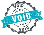 Void Vintage Turquoise Seal Isolated On White