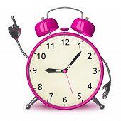 Pink Alarm Clock With Idea