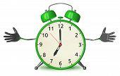 Welcoming Green Alarm Clock