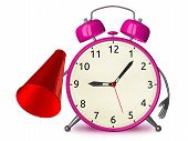 Pink Alarm Clock With Megaphone
