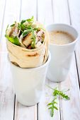 Wrap Roll With Chicken, Rocket And Cheese