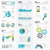 Set of infographic elements and business graphics tools