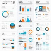 Modern infographic business elements and vector tools