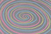 Chalk with spin cycle on chalkboard background