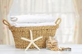 pic of laundry  - Basket of laundry with pegs - JPG