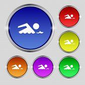 image of swimming  - Swimming sign icon - JPG