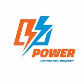 ������, ������: Power vector logo concept illustration Lightning logo Electricity logo Vector logo template