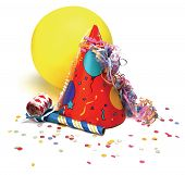 stock photo of party hats  - party hat - JPG