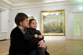 Mother And Son In The Gallery
