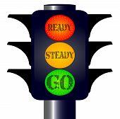 Ready Steady Go Traffic Lights