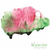 Abstract Watercolor vector on white background