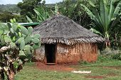 stock photo of mud-hut  - Traditional Ethiopian house. Omo Rift Valley. Ethiopia. Africa