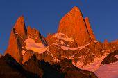 Mount Fitz Roy  in Los Glaciares National Park, Argentina