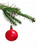 Retro ornament on Christmas tree