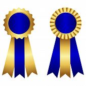 picture of rosette  - Award ribbon rosette  - JPG