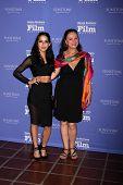 SANTA BARBARA - FEB 5:  Paola Baldion, Florence Jaugey at the Santa Barbara International Film Festival - American Riviera Award at a Arlington Theater on February 5, 2015 in Santa Barbara, CA