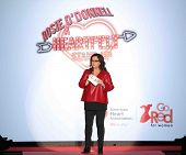 NEW YORK-FEB 12: Comedian Rosie O'Donnell at Go Red for Women - The Heart Truth Red Dress Collection show during Mercedes-Benz Fashion Week at Lincoln Center on February 12, 2014 in New York City.