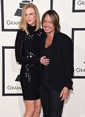 LOS ANGELES - FEB 08:  Nicole Kidman & Keith Urban arrives to the Grammy Awards 2015  on February 8, 2015 in Los Angeles, CA