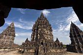 Framing of Prambanan Loro Jonggrang