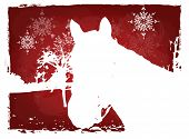 Red Christmas Horse Card