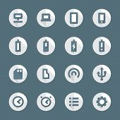 flat style various device icons set