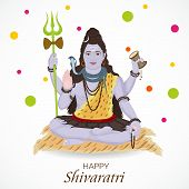 picture of shiva  - illustration of Lord shiva in gray background - JPG