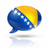 Bosnia And Herzegovina Flag Speech Bubble