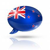 New Zealand Flag Speech Bubble
