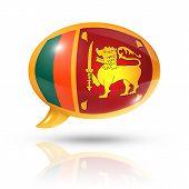 Sri Lanka Flag Speech Bubble
